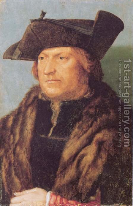 Portrait of Rodrigo de Almada by Albrecht Durer - Reproduction Oil Painting