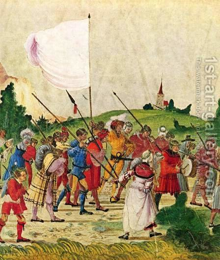 Triumphal Emperor Maximilian, the scene entourage, detail by Albrecht Altdorfer - Reproduction Oil Painting