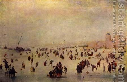 Skating by Hendrick Avercamp - Reproduction Oil Painting