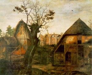 Mannerism painting reproductions: Landscape with Farm 1564