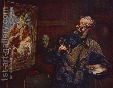 The painter 2 by Honoré Daumier - Reproduction Oil Painting