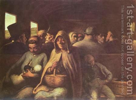 Third-class carriage by Honoré Daumier - Reproduction Oil Painting
