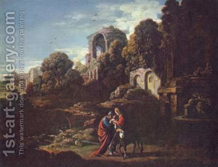 Landscape with the Flight to Egypt by Adam Elsheimer - Reproduction Oil Painting