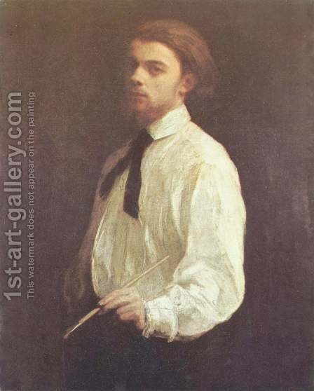 Self Portrait 5 by Ignace Henri Jean Fantin-Latour - Reproduction Oil Painting