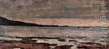 Lead-colored sea by Giovanni Fattori - Reproduction Oil Painting