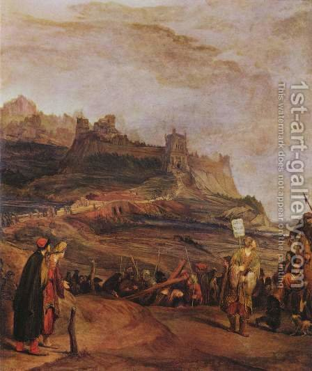 The walk to Golgotha by Aert De Gelder - Reproduction Oil Painting