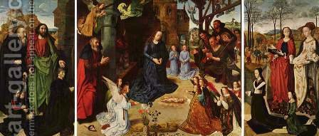 Portinari-Altar, overview by Hugo Van Der Goes - Reproduction Oil Painting