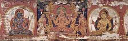 Bodhisattva Prajnaparamita by Indian School - Reproduction Oil Painting