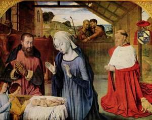 Birth of Christ and the Cardinal Rolin