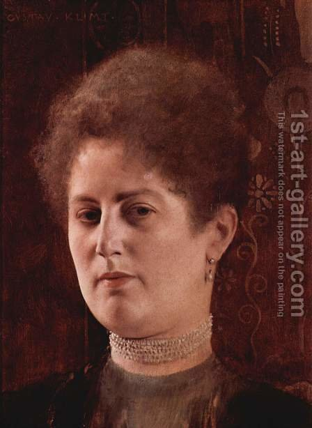 Portrait of a lady 4 by Gustav Klimt - Reproduction Oil Painting