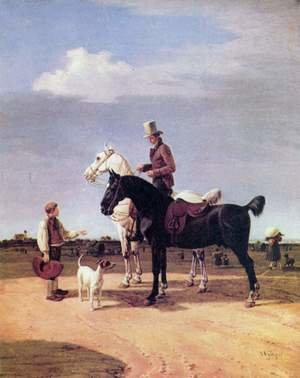 Reproduction oil paintings - Wilhelm Von Kobell - Riders with two horses