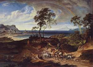 Famous paintings of Landscapes: Landscape after a storm