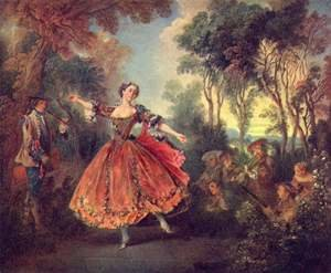 Famous paintings of Landscapes: La Camargo Dancing