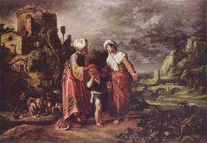 Reproduction oil paintings - Pieter Pietersz. Lastman - Hagar's Farewell