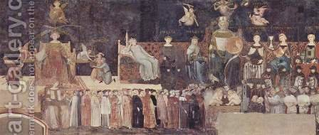 Allegory of Good Government by Ambrogio Lorenzetti - Reproduction Oil Painting