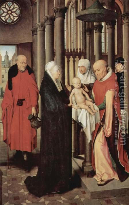 Adoration of the Magi altar, right panel presentation in the temple by Hans Memling - Reproduction Oil Painting