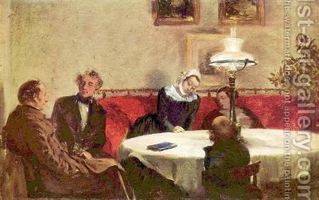 Soiree by Adolph von Menzel - Reproduction Oil Painting