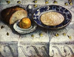 Famous paintings of Dairy & Milk: Still life with breakfast