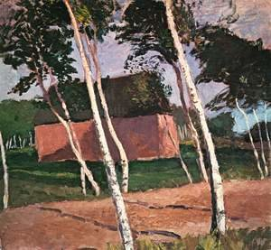 Famous paintings of Landscapes: Worpswede Landscape