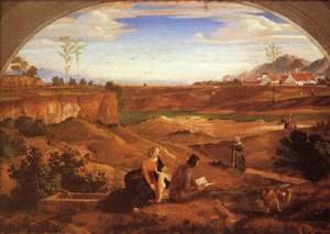 Holy Family with John the Baptist in a Landscape