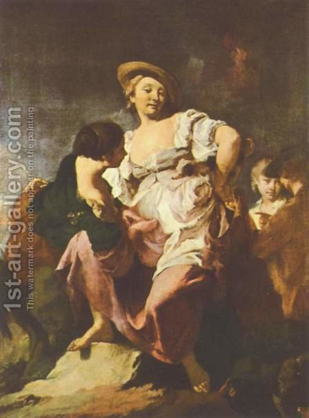 The Fortune Teller by Giovanni Battista Piazzetta - Reproduction Oil Painting