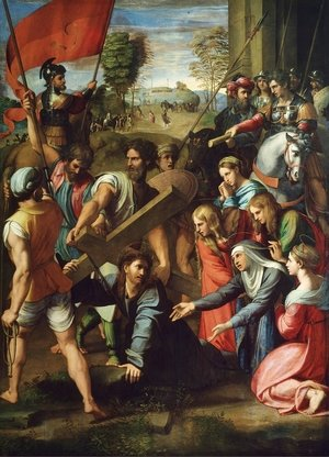 Reproduction oil paintings - Raphael - Christ carrying the Cross