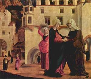 Famous paintings of Landscapes: Marie altar scene Visitation