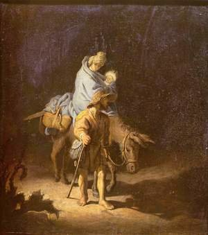 Reproduction oil paintings - Rembrandt - The flight into Egypt