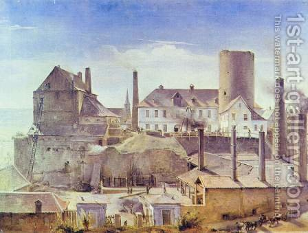 The Harkort Factory in Burg Wetter by Alfred Rethel - Reproduction Oil Painting