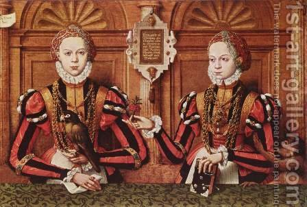 Portrait of family Rietberg, detail and Walburg Ermengarda of Rietberg by Hermann Tom Ring - Reproduction Oil Painting