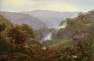 Famous paintings of Landscapes: Waterfall at Tivoli