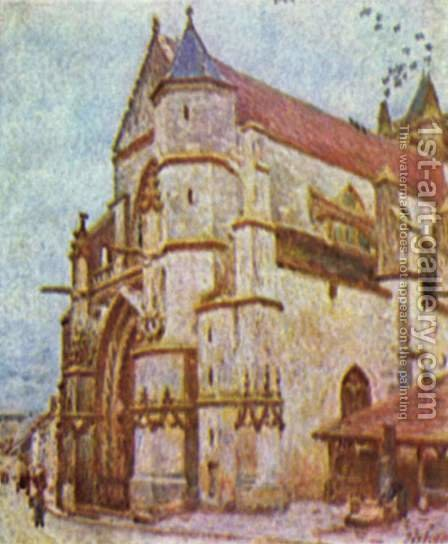 Church of Moret by Alfred Sisley - Reproduction Oil Painting