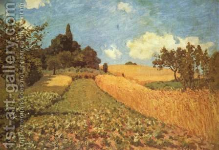 Cornfield by Alfred Sisley - Reproduction Oil Painting