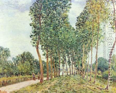 Banks of the Loing at Moret by Alfred Sisley - Reproduction Oil Painting