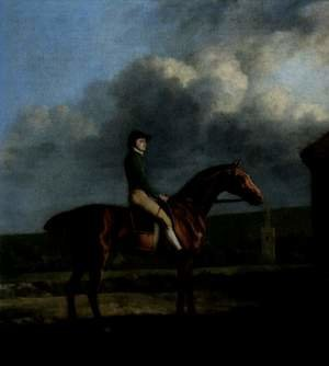 Portrat of the jockey John Larkin