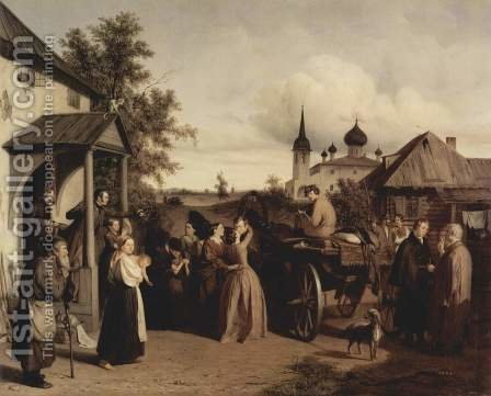 Farewell by Aleksei Filippovich Chernyshev - Reproduction Oil Painting