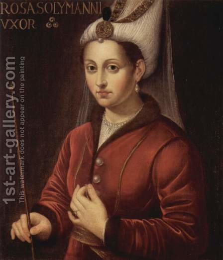 Portrait of Roxelane by Italian Unknown Master - Reproduction Oil Painting