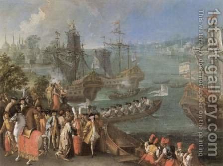 The arrival of the French ambassador in Istanbul by Italian Unknown Master - Reproduction Oil Painting