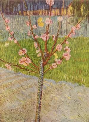 Famous paintings of Trees: Blossoming peach tree