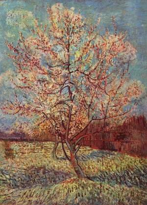Famous paintings of Trees: Blossoming peach tree 2