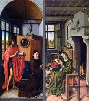 Reproduction oil paintings - Hans Werl - Werf triptych 1438, Prado, Madrid