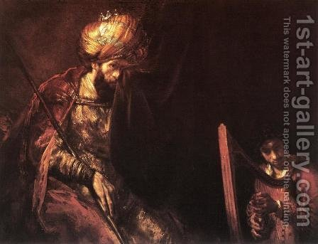 Saul and David by (after) Rembrandt Van Rijn - Reproduction Oil Painting