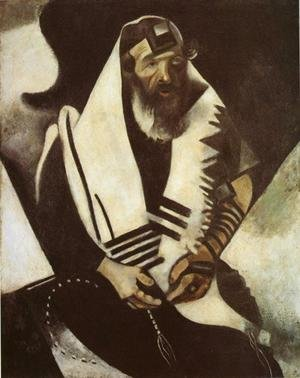 Modernism painting reproductions: The Praying Jew (Rabbi of Vitebsk)