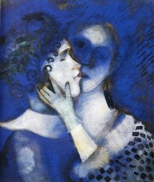 "Modernism painting reproductions: ""Blue"" Lovers"
