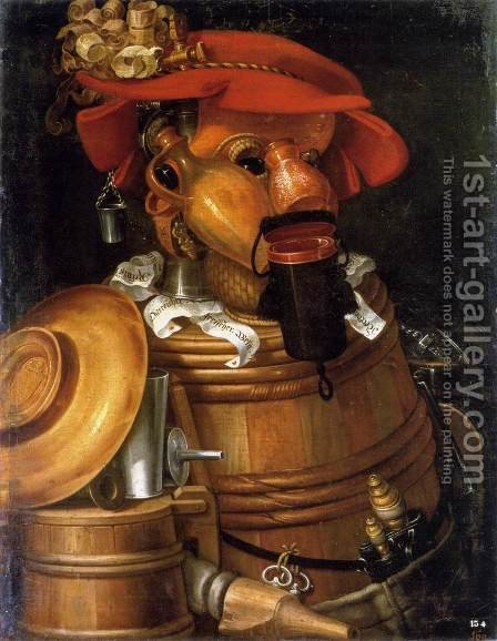 The Waiter by Giuseppe Arcimboldo - Reproduction Oil Painting