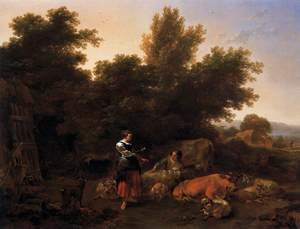 Famous paintings of Domestic Animals: Southern Pastoral