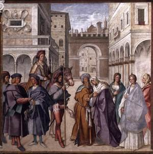 Reproduction oil paintings - Boccaccio Boccaccino - Meeting at the Golden Gate