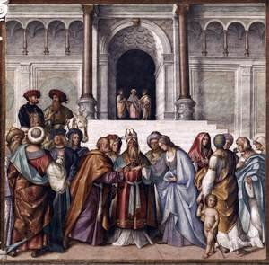 Reproduction oil paintings - Boccaccio Boccaccino - Betrothal of Mary
