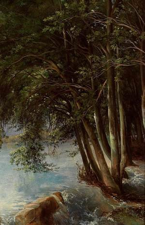 Famous paintings of Trees: Trees at the Bank