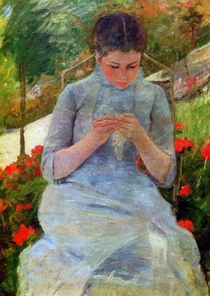 Reproduction oil paintings - Mary Cassatt - Woman with Needlework